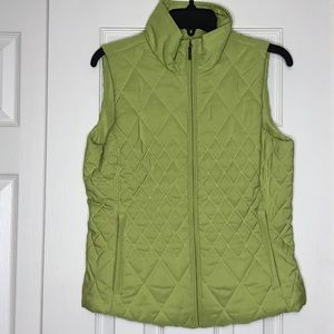Coldwater Creek Green Quilted Vest - Size XS EUC